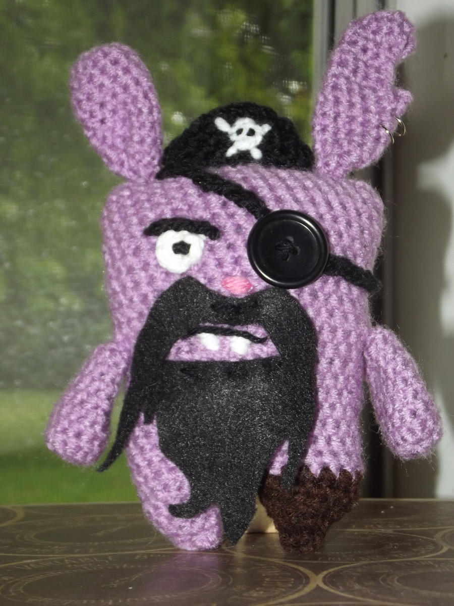 Amigurumi Ugly Doll : Pirate Ugly Bunny Amigurumi by Amigurumi-Lover on deviantART