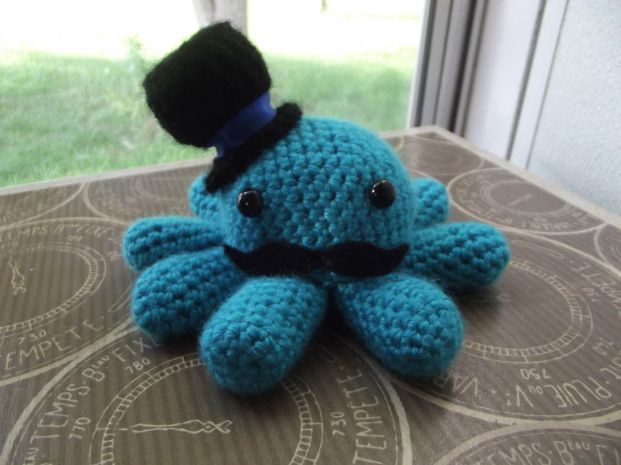 Turquoise Sir Octopus by Amigurumi-Lover