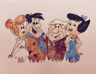 The Flintstones by mybuttercupart