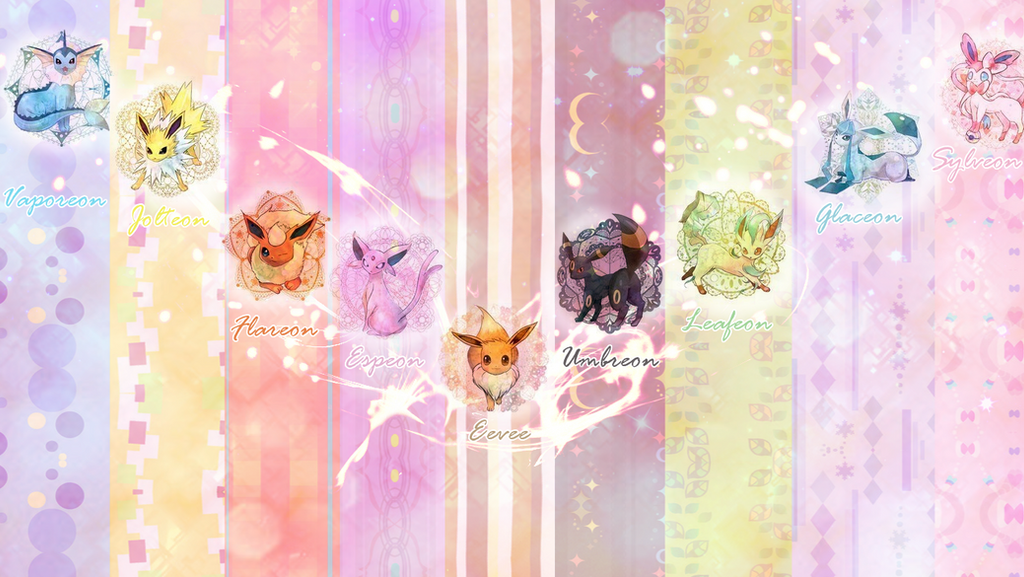 eeveelutions wallpaper with sylveon