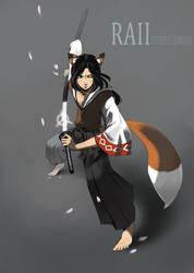 raii kitsune samurai