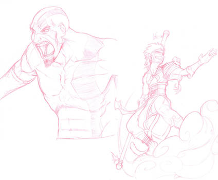 Kratos and The Monkey King