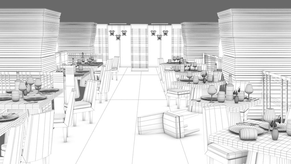 Restaurant Interior by Gwendolynn13