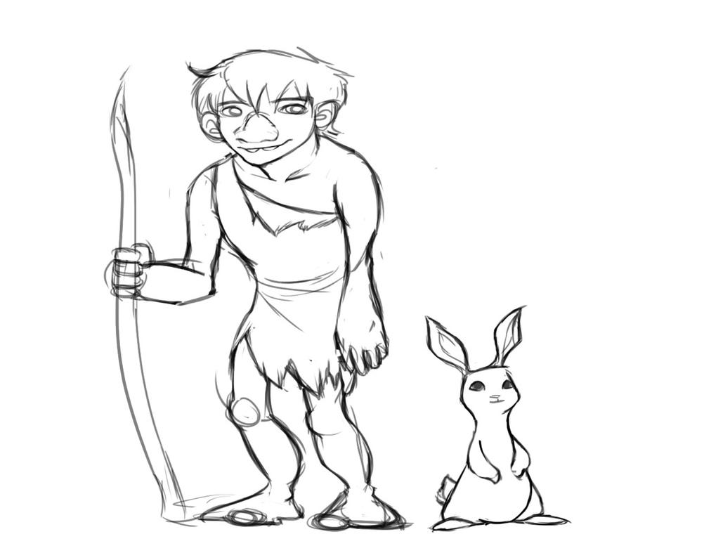 Caveman and Bunny Story Prompt by Gwendolynn13