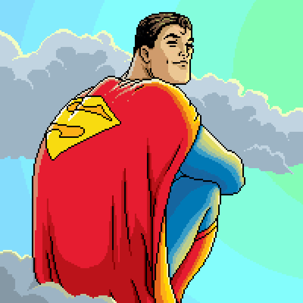 All Star Superman Pixel Art After Frank Quitely By Pxlflx On
