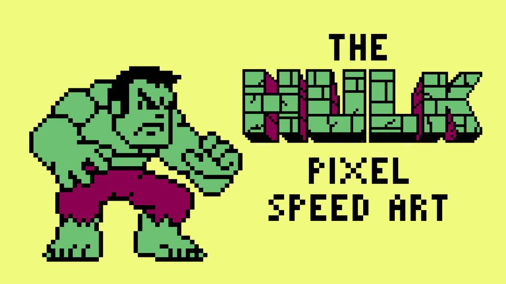 hulk pixel art for - photo #14