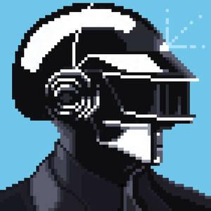 Daft Punk Thomas pixel art