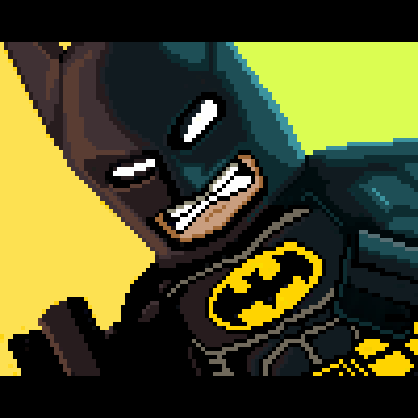 Lego Batman pixel art by PXLFLX on DeviantArt