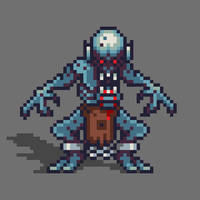 Ghoul pixel art for pixel_dailies by PXLFLX