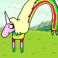 Lady Rainicorn pixel art by PXLFLX