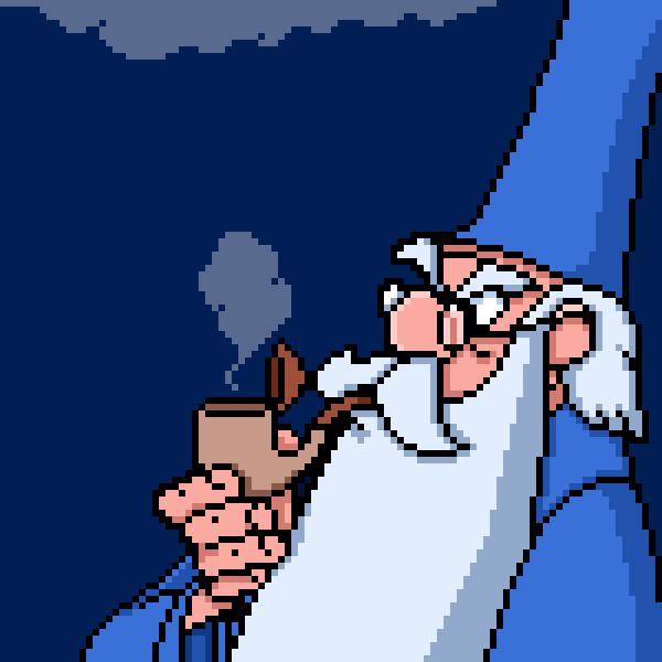 Merlin smoking pipe by PXLFLX