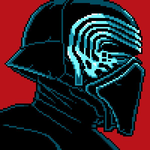 Kylo Ren mask pixel art by PXLFLX by PXLFLX