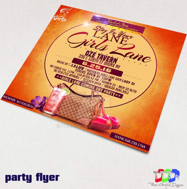 Girls Night party flyer by PhilVision