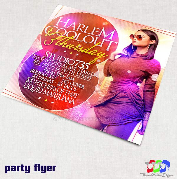 Harlem Coolout party fyer by PhilVision