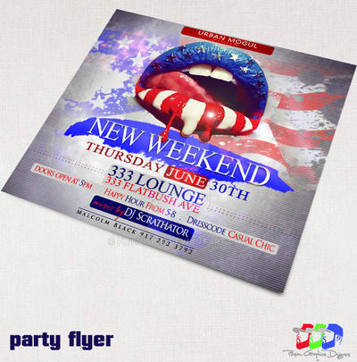 Weekend Party flyer by PhilVision