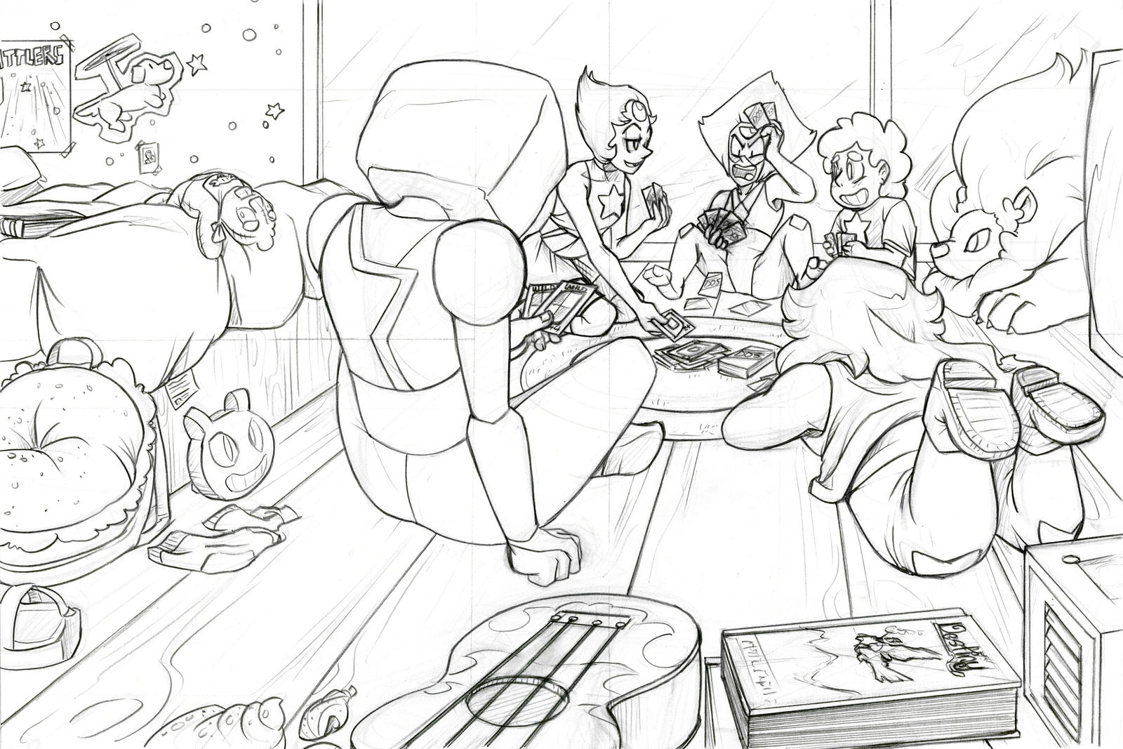 Line Art Universe : Steven universe pencil lineart by thedracojayproduct on