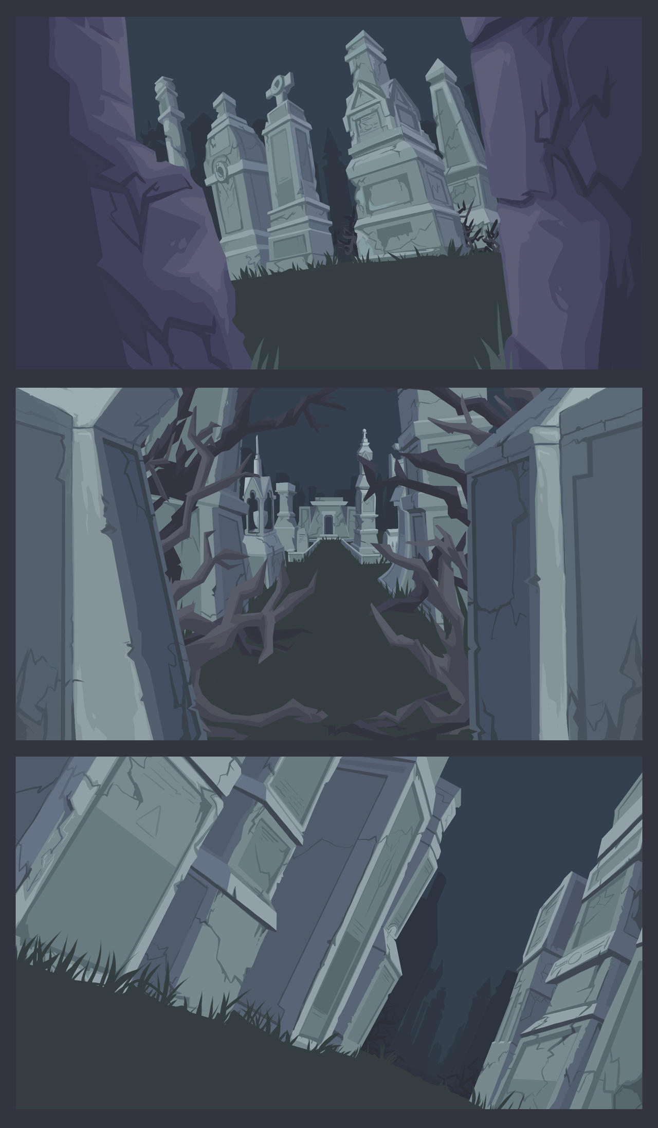 Cemetery Layouts by TheDracoJayProduct