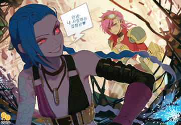 Jinx and Vi by 2gold
