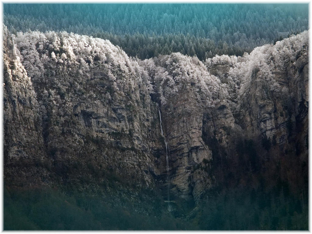 Cascade de givre - Polienas - 02 janvier 2019