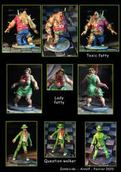 Toxic fatty, lady fatty, question walker - zombici