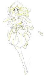 Dress line drawing by Akatukiart