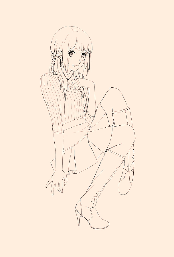 Girl Drawing by Akatukiart
