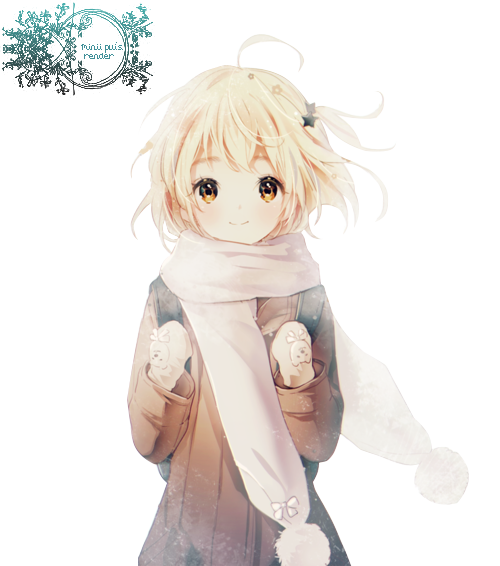 Winter Cute Anime Girl Render By Pui The Pong On Deviantart