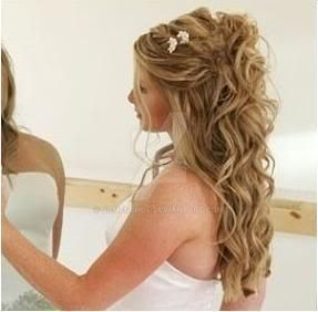 Wedding hairstyles for long curly hair half by jamesghof on DeviantArt