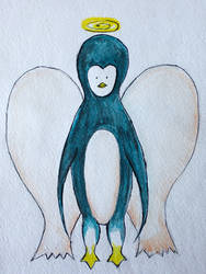 Penguin-angel by cahelud