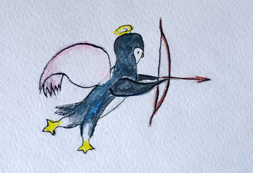 Penguin-cupid by cahelud