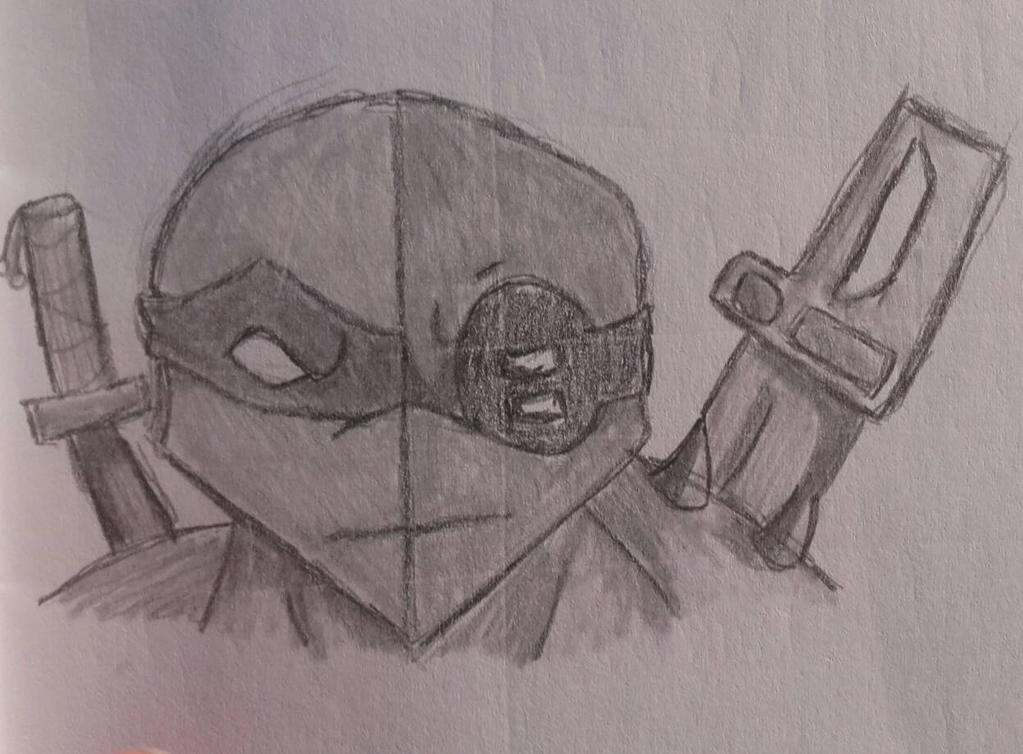 TMNT fast forward dark leo and regular Leo sketch by LarissaxSnuffie