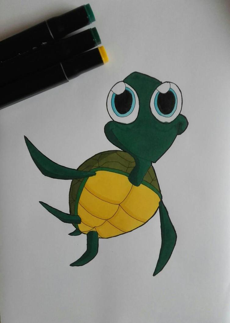 Little Turtle by LarissaxSnuffie