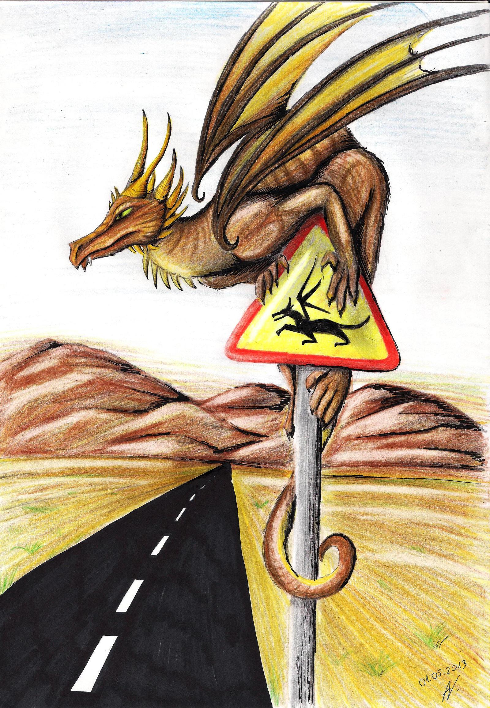 Desert dragon. by Wojak1991