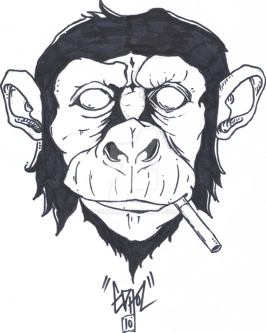 the smoking monkey by edhol on deviantart