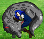 Fenrir and Lanx Sleeping by Zephra85