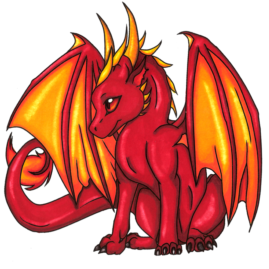 Charming Red Dragon Line Art Color By 11thAngel ...