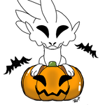 Free to use early Mochiraptor Halloween base