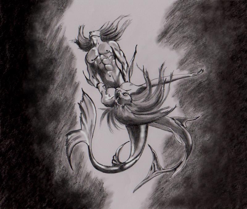 mermaid and merman by dielectric-m on DeviantArt
