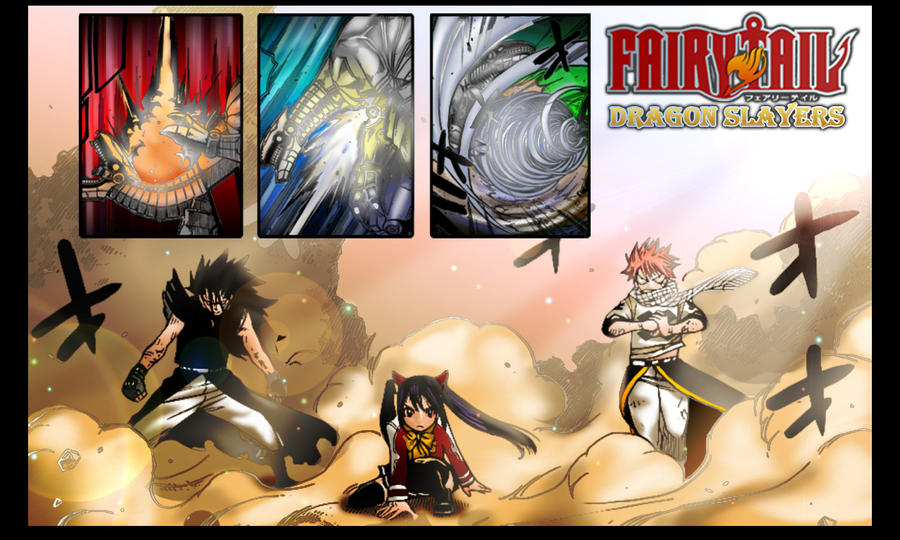 Vos fond d'écrans. - Page 2 Fairy_Tail___Dragon_Slayers_by_BakaXero