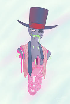 [VILLAINOUS] pastel gore blackhat by TatataiaFurcchim