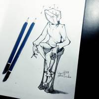 [OC] Ashtelly sketch by TataiaFurquim