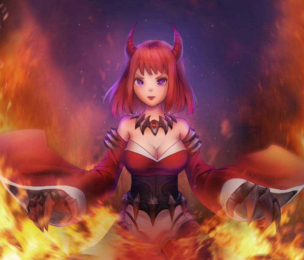 Demon Fire by Sanilea on DeviantArt