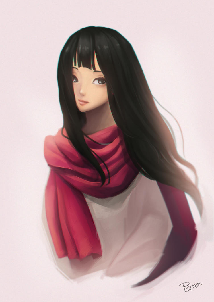 Red Scarf by Sanilea