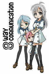 3-Way Communication Manga Cover by LVUER