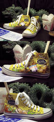 Custom Dim Sum Von Dutch shoes by ehenders