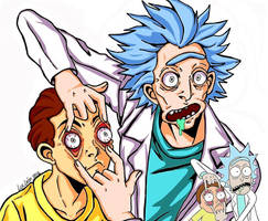 Rick and Morty: Scene Redraw by LucLeon
