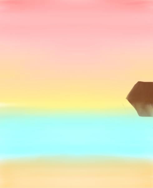 Sunset with cliff by TriniDarkieGirl4EVA