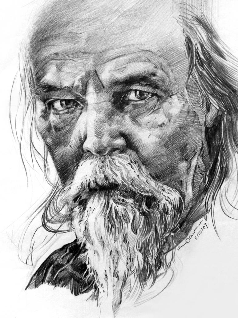 old mans face drawing - photo #49