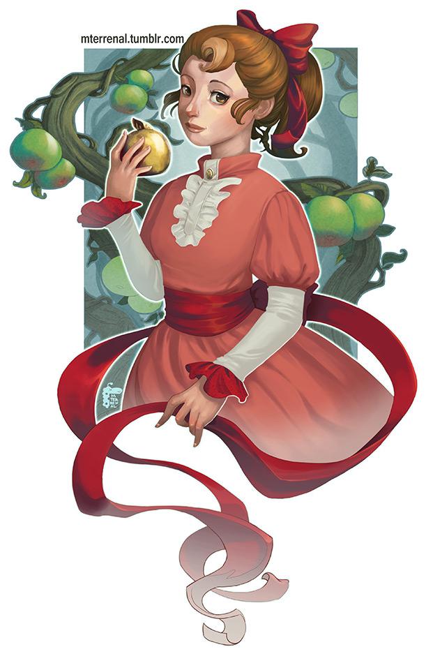 Flora Reinhold - The Golden Apple by MTerrenal