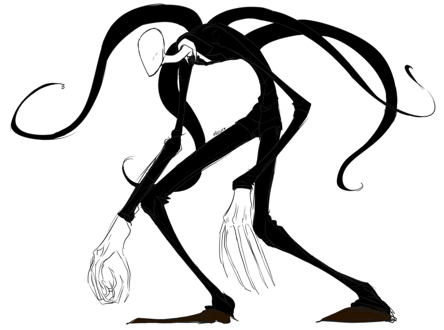 Slenderman by malchutt on deviantart for Slender man coloring pages